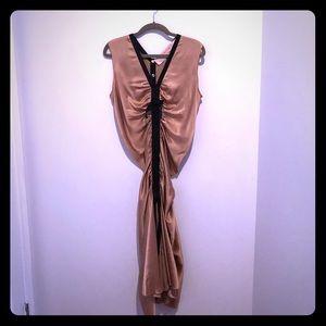 100% silk Lanvin dress in dusty pink